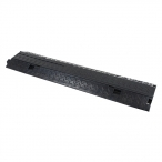 2-Channel Lidded Cable Ramp (All Black)