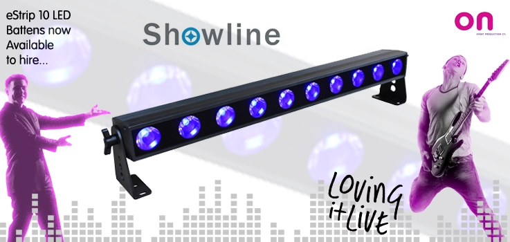 On adds Showline eStrip 10 RGBW LED Battens to hire stock