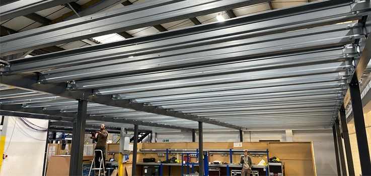 On Increases Warehousing Space with the Addition of a New Mezzanine