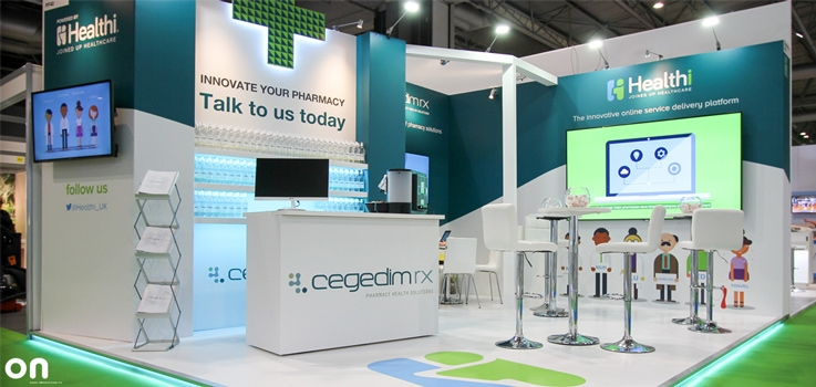 On creates a stunning exhibition stand for pharmacy app launch